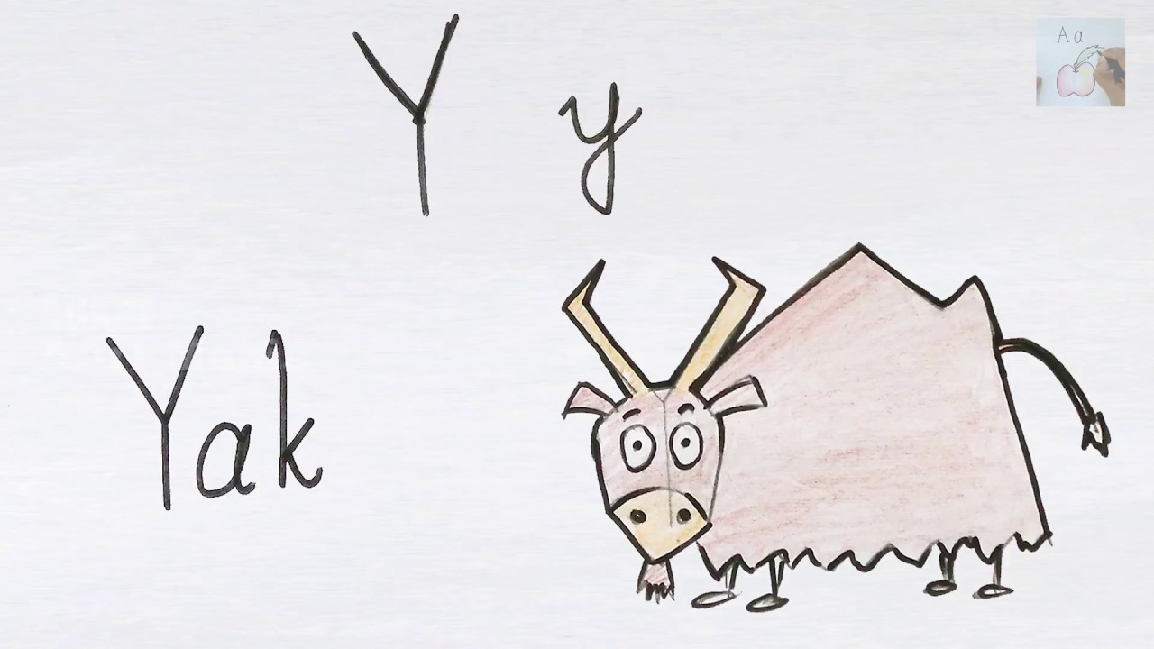 Y For Yak How To Draw Using Alphabets Fun With Alphabets
