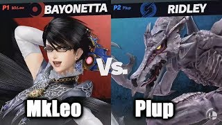 Plup (Ridley) vs MkLeo (Bayonetta) Losers Finals - Super Smash Bros. Ultimate Invitational