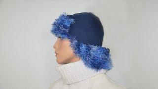 Двойная шапка-ушанка на вязальной машине Нева-2. Часть 4.