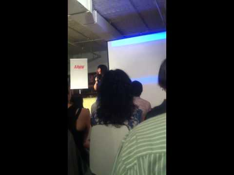 Jean Kwok speaking at the AAWW during her