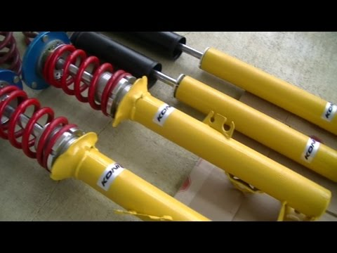 Koni Yellow Adjustable Shocks For Bmw E36 Diy Cosmetic Restoration