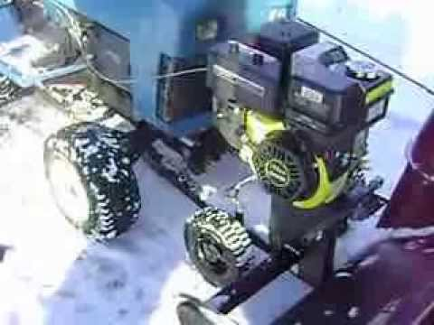 Garden tractor to snow blower. - YouTube