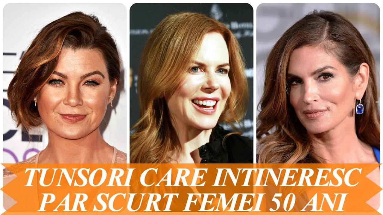 Tunsori Care Intineresc Par Scurt Femei 50 Ani Youtube