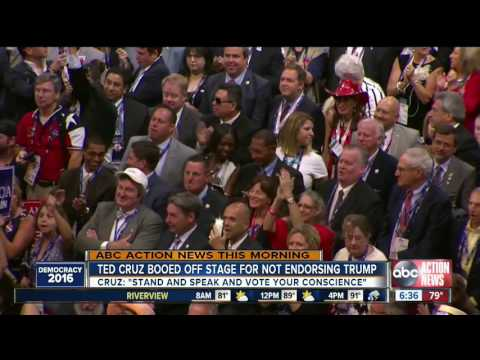 LIVE FROM RNC Day 3  Ted Cruz booed off stage, Mike Pence accepts Republican VP nomination