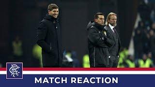 REACTION | Steven Gerrard | Rangers 5-0 Hearts Video