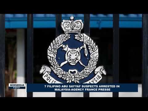 NEWS BREAK: 7 Filipino Abu Sayyaf suspects arrested in Malaysia-Agency France Presse