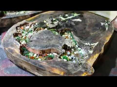Pembuatan Meja Log Kayu Dan Resin Part 2 Youtube