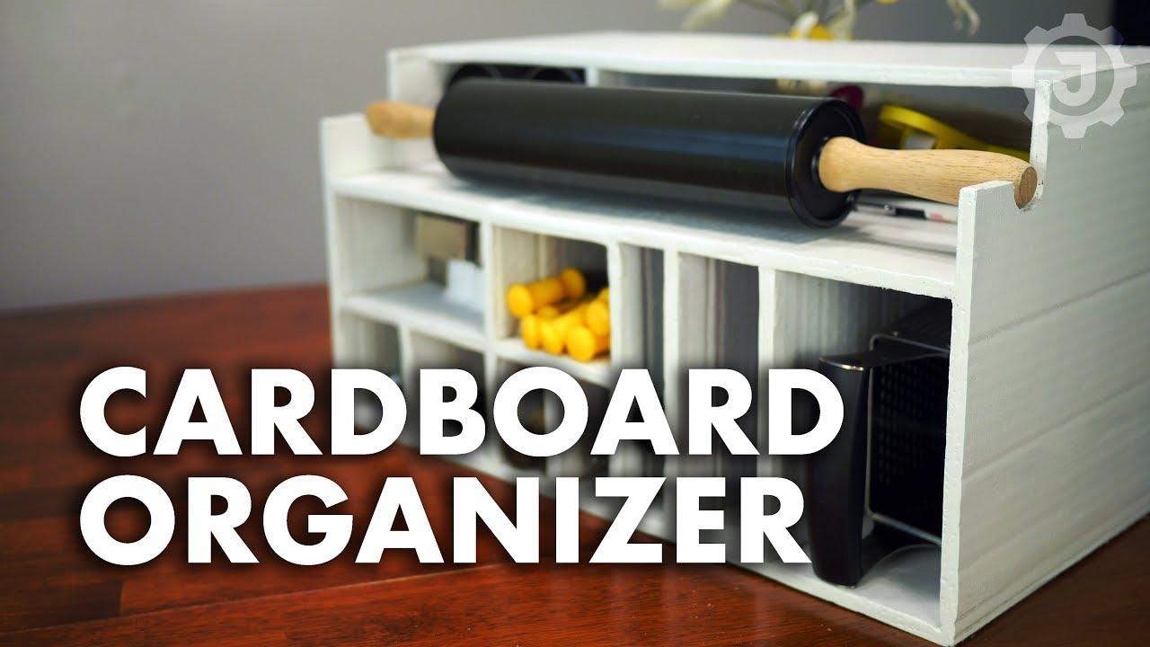 Cardboard Organizer For Kitchen Cabinet Youtube