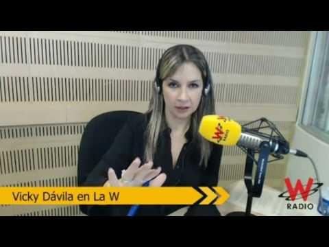 Vicky Dávila en La W en debate con Angélica Lozano y Ernesto Macías