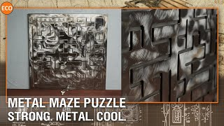 Metal maze puzzle. Strong. Metal. Cool.