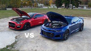 2020 Mustang GT500 vs 2021 Camaro ZL1