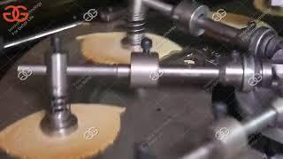 Automatic Ice Cream Cone Production Line   Rolled Sugar Cone Making Machine  4000-5000 pcs/h
