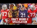 Live! If 49ers Draft DL Round 1, What's Best For Round 2 WR, DB Or OL?