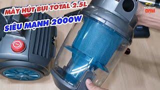 Máy hút bụi Total 2.5L Siêu mạnh 2000w hút cực khỏe/ Trợ thủ vệ sinh nhà cửa đón tết 2021/Giá 1.430k