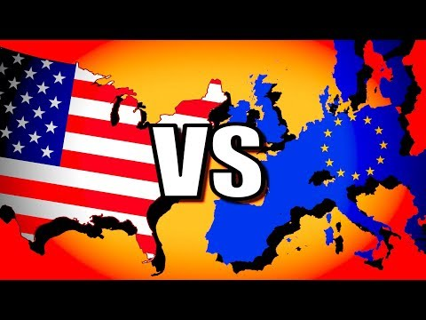 United States Vs European Union (USA Vs EU) | Hearts Of Iron 4 [HOI4 Modern Day]