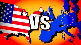 United States vs European Union (USA vs EU) | Hearts of Iron 4 [HOI4 Modern Day]