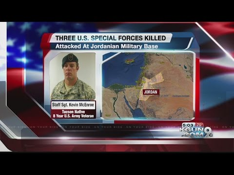 Department of Defense announces death of Staff Sergeant Kevin McEnroe of Tucson at Jordanian base