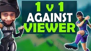 DAEQUAN GOES OFF! | 1 VS 1 AGAINST VIEWER | HIGH KILL FUNNY GAME - (Fortnite Battle Royale)