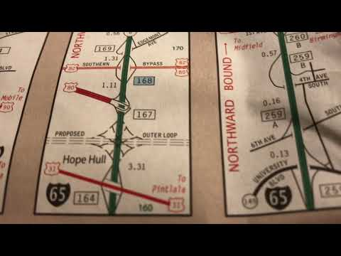 Strip Maps On The Alabama State Highway Map