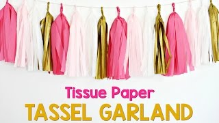 How to Make a Tissue Paper Tassel Garland by Yummy Paper