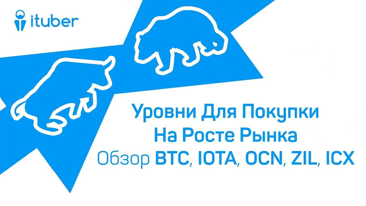 Уровни Для Покупки На Росте Рынка. Обзор BitCoin BTC, IOTA MIOTA, Odyssey OCN, Zilliqa ZIL, ICON ICX
