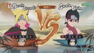 Naruto Shippuden Ultimate Ninja Storm 4 - Boruto and PTS Naruto VS Sarada and PTS Sasuke Video