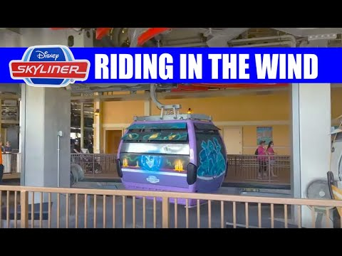 Disney Skyliner Riding On A Windy Day from Riviera Resort With My Friend Michael