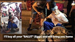 "82 Years Old Blind ""BALUT (Eggs) VENDOR"" BUYING ALL HIS GOODS! *Emotional* 🙏🇵🇭"