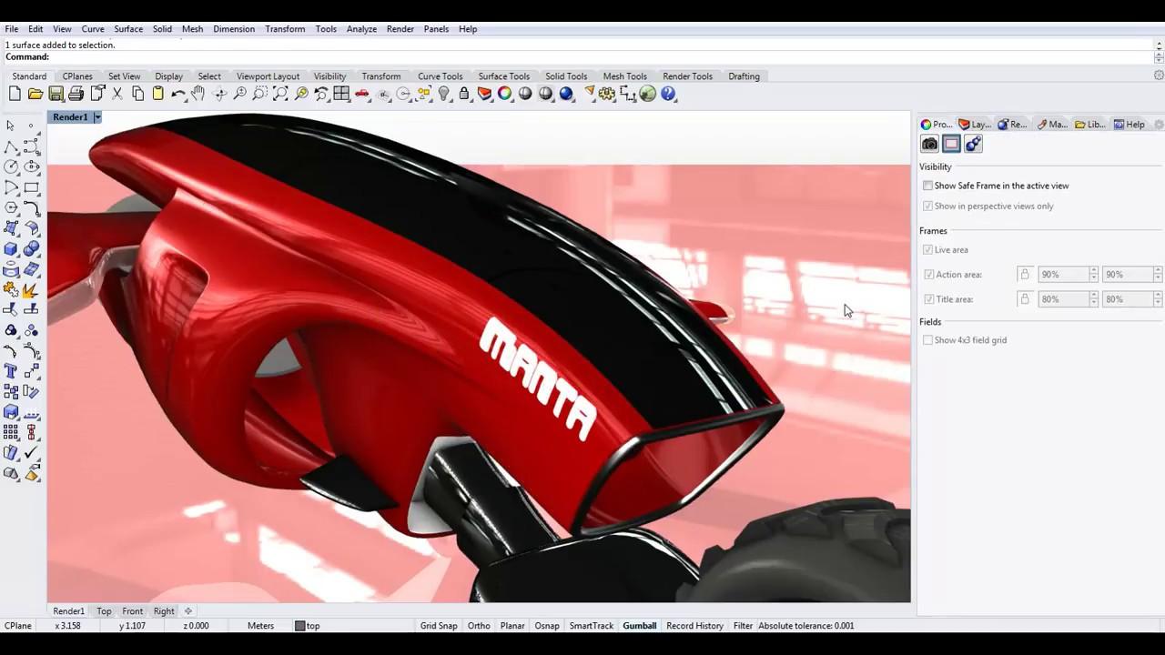 Rhino 6 Demo 2 – Material, Decal and Rendering – Studio Rola