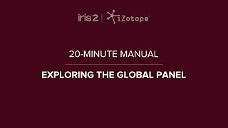 iZotope Iris 2: Global Controls | 20-Minute Manual Video #4