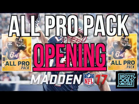 ALL PRO PACK OPENING! 5 ALL PRO PACKS! Madden Mobile 17 Pack Opening