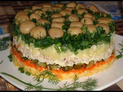 Салат грибная поляна рецепт с фото.