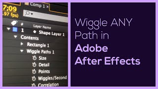 Wiggle Any Path In After Effects
