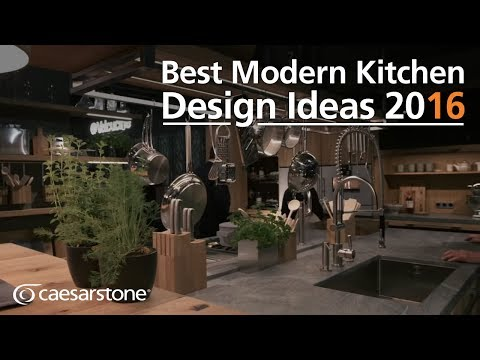 Modern Kitchen Design Ideas white or stainless steel appliances and white kitchen cabinets increase small kitchens visually Best Modern Kitchen Design Ideas 2016