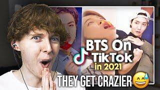 THEY GET CRAZIER! (BTS TikTok Compilation 2021 #4 | Reaction)