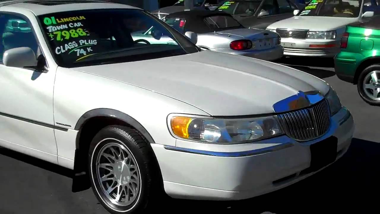2001 Lincoln Town Car Signature Series Www Airportautosales Net