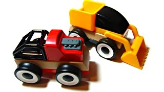 Fun Learning Colours with Ikea Toy Cars! Construction Trucks for Children - Ingrid Surprise