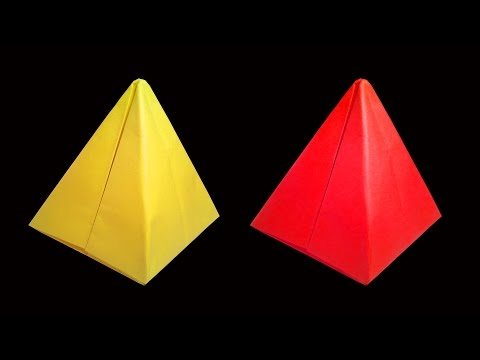 How To Make Paper Pyramid Origami Crafts Hd