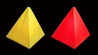 How to make A Paper Pyramid (Origami crafts) : HD