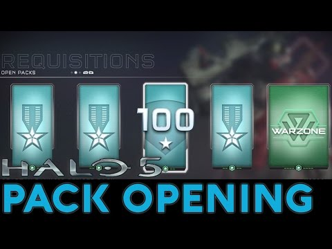 Halo 5: Guardians - Pack Opening - SR 100, Weapon Mastery, 13 Gold + Premium Packs (So Many Mythics)