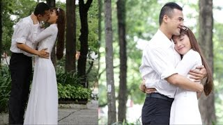 Thúy Diễm diện áo dài nữ sinh, hôn Lương Thế Thành thắm thiết(Tin tức Sao Việt)