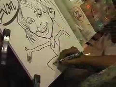 Caricature of Evan by Sam Klemke www.ultimessence....
