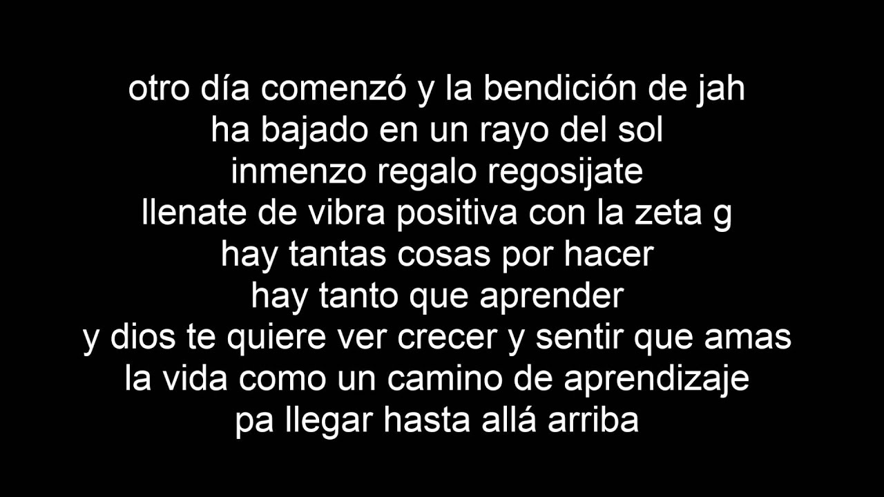 cancion no estes triste de zona ganjah