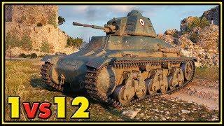Hotchkiss H35 - 1 vs 12 - World of Tanks Gameplay