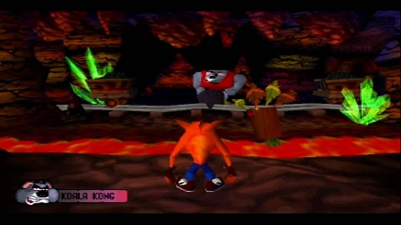 Crash Bandicoot 1 Walkthrough - BOSS - Koala Kong (HD ...