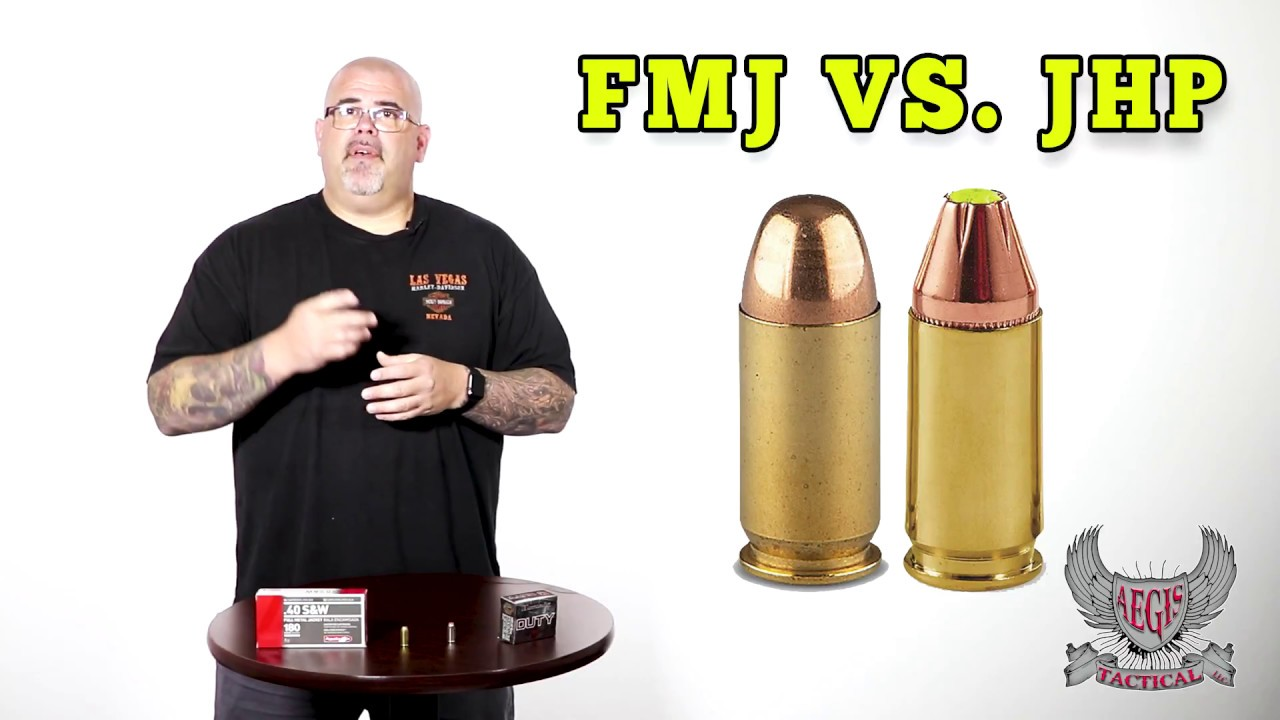 FMJ Full Metal Jacket Vs. JHP Jacketed Hollow Point. What ...