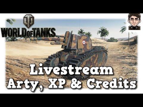 World of Tanks - Aufzeichnung Livestream Arty, XP & Credits farmen [deutsch | gameplay]