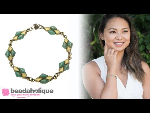 How to Make the Timbuktu Bracelet featuring GemDuos and Cymbal Bead Endings