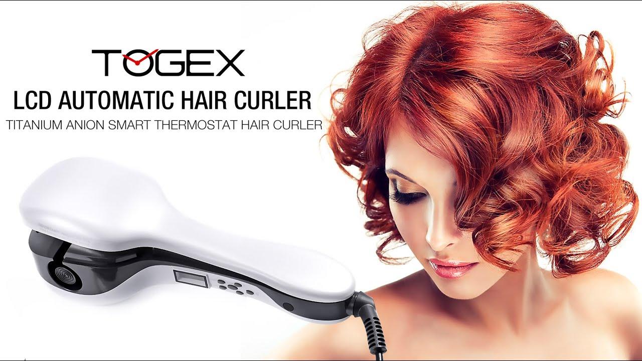 Togex Automatic Hair Curler Machine Titanium Anion Smart