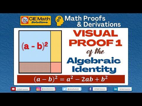 Visual geometric proof of the algebraic identity a minus b squared [Method 1] | IGCSE Maths 0580